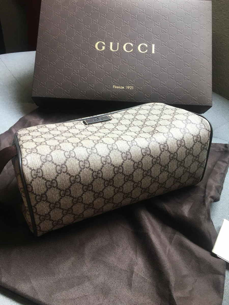 025c237b9 Bolsa Neceser Gucci Toiletry Kit Supreme Gg - $ 3,499.00 en Mercado ...