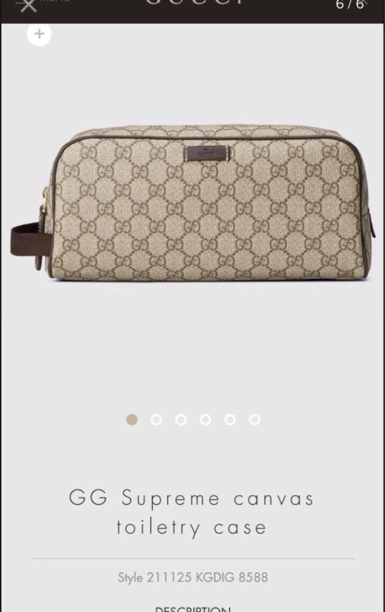025c237b9 Bolsa Neceser Gucci Toiletry Kit Supreme Gg - $ 3,499.00 en Mercado ...