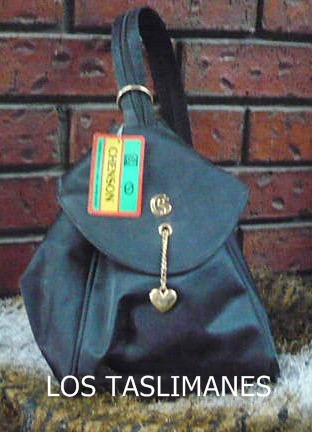 bolsa negra de raso chenson