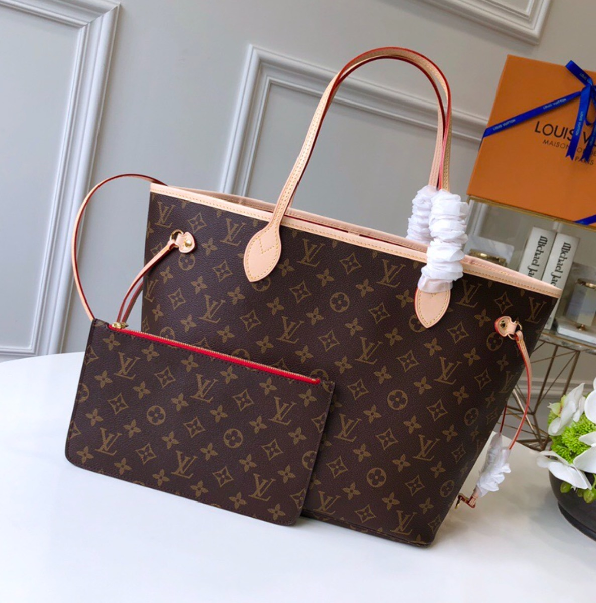 4328dfd77 Bolsa Neverfull Louis Vuitton - $ 5,200.00 en Mercado Libre