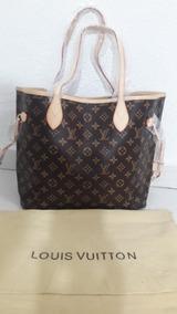b632b3258 Bolsa Louis Vuitton Neverfull Tamanho Médio - Bolsas de Couro Marrom ...