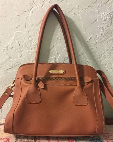 bolsa nine west / westies color café crossbody