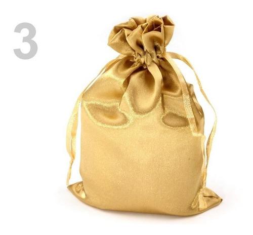 bolsa organza recordatorio dorada plateada metelizadawuligir