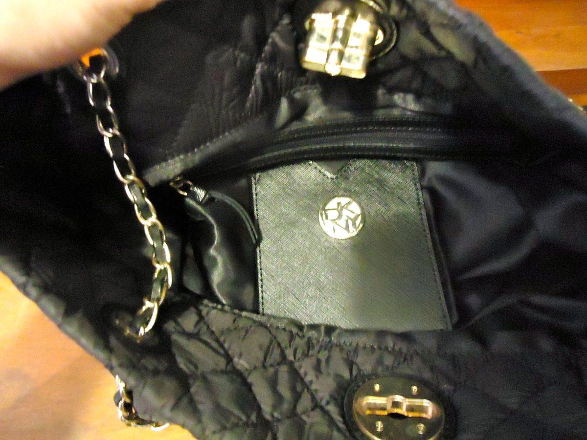0a51139e4 Bolsa Original Dkny Donna Karan Preta Matelassê Linda - R$ 200,00 em ...