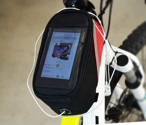 bolsa p/ quadro porta celular, caramanhola speed, mtb cod135