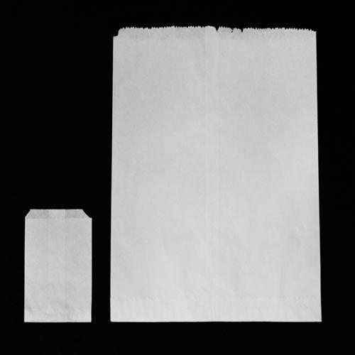 bolsa papel estraza blanca 15.5x23cm 100pza ecológica biodeg