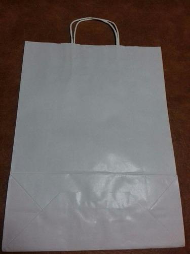 bolsa papel kraft colores surtidos  30 x 41 cm x 50 unid