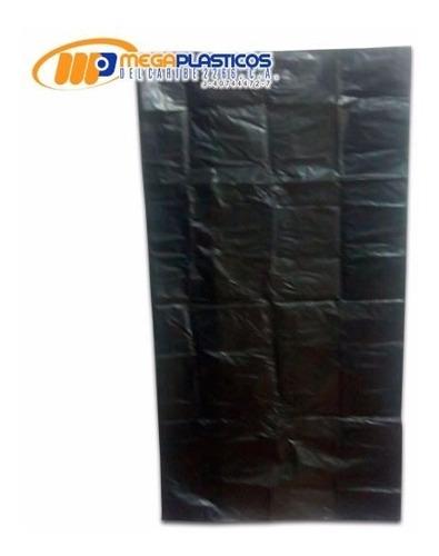bolsa  para basura negra 40 kilos  calibre 14 extra fuerte