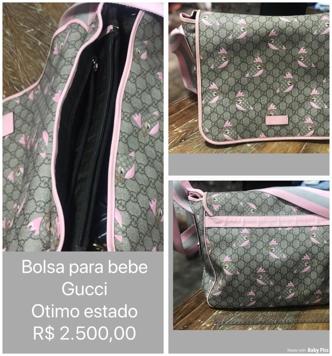3bda9fad4 Bolsa Para Bebé Gucci - R$ 2.500,00 em Mercado Livre