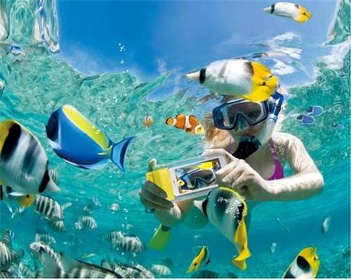 bolsa para celulares sumergible en agua forro iphone 6 etc