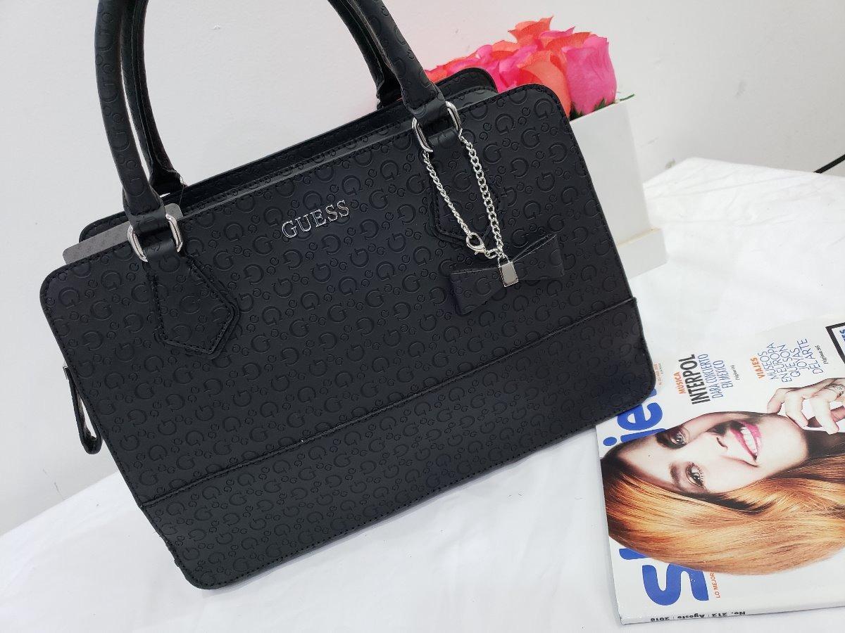 ec1a5c5b Bolsa Para Dama Guess Negra Original June - $ 1,790.00 en Mercado Libre