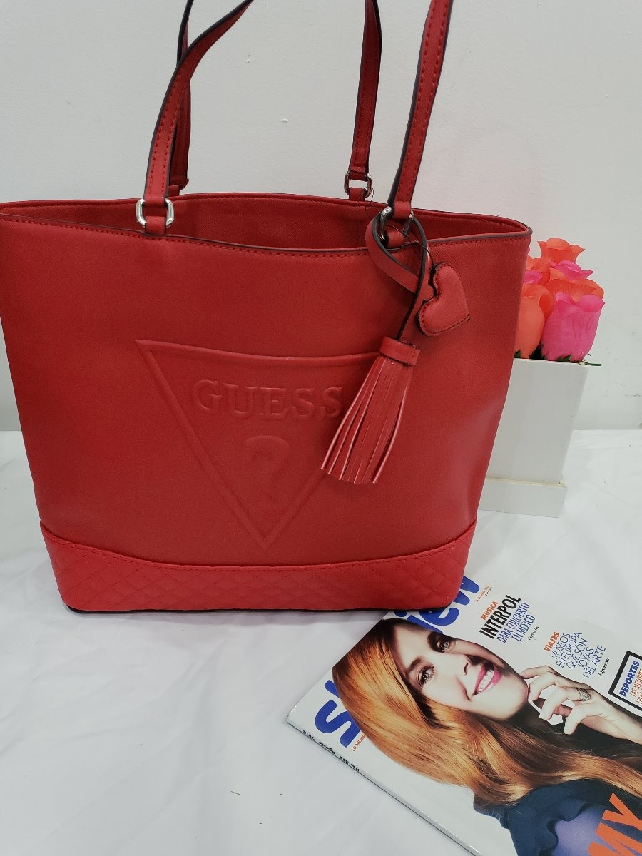d40d5174 Bolsa Para Dama Guess Roja Original Clasica - $ 1,790.00 en Mercado ...