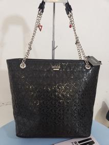 Gues Negra Para Ff713325 Original Bolsa Us Charol Dama Marca gbyf76