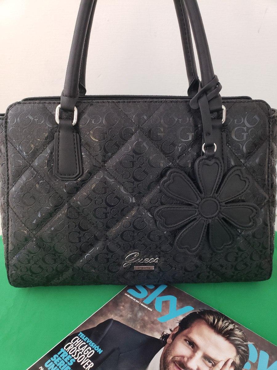 60e05142 Bolsa Para Dama Marca Guess Negra Original Usa Flower - $ 1,890.00 ...