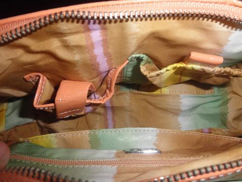 bolsa para dama ny naranja no piel usada