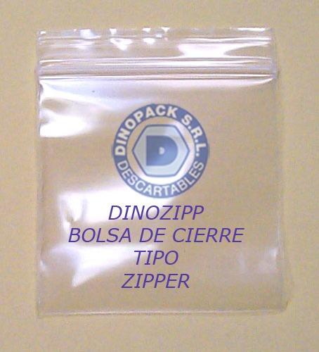 bolsa para el hogar cierre tipo zipper 20 x 30 100un.
