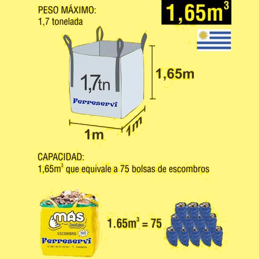 Bolsa para escombro multiuso residuo retiro gratis - Bolsas para escombros ...