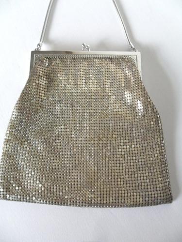 bolsa para festa malha de metal whiting & davis made in usa