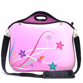 Bolsa Para Notebook 14 Polegadas  Rosa Flores Premium