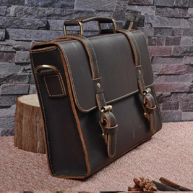 010bc47e8 bolsa pasta masculina couro genuino vintage feito a mão. Carregando zoom.