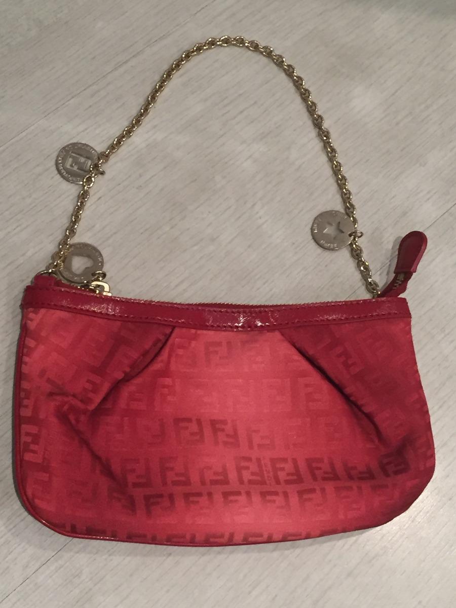 8d9c13d268 bolsa pequena com alça curta vermelha - fendi (original). Carregando zoom.