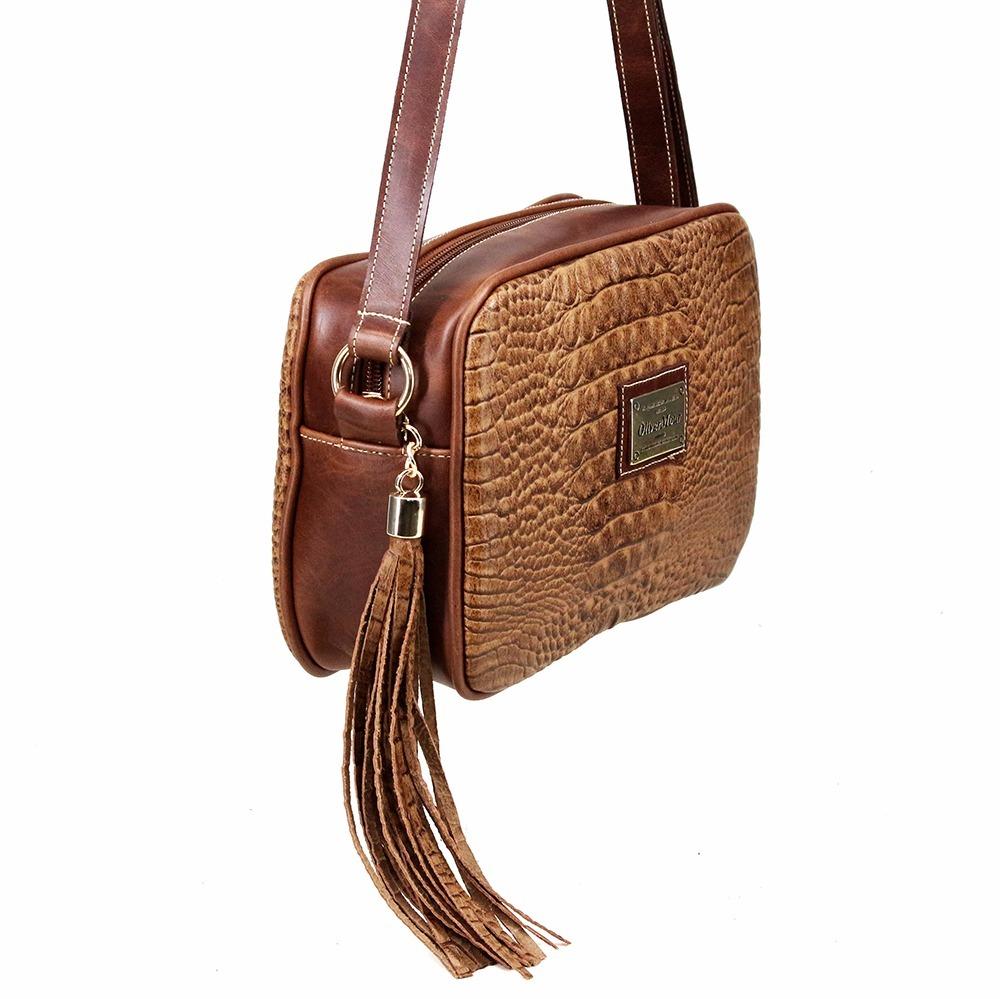 d9170c288 Bolsa Pequena Transversal Feminina Em Couro Genuíno - R$ 212,79 em ...