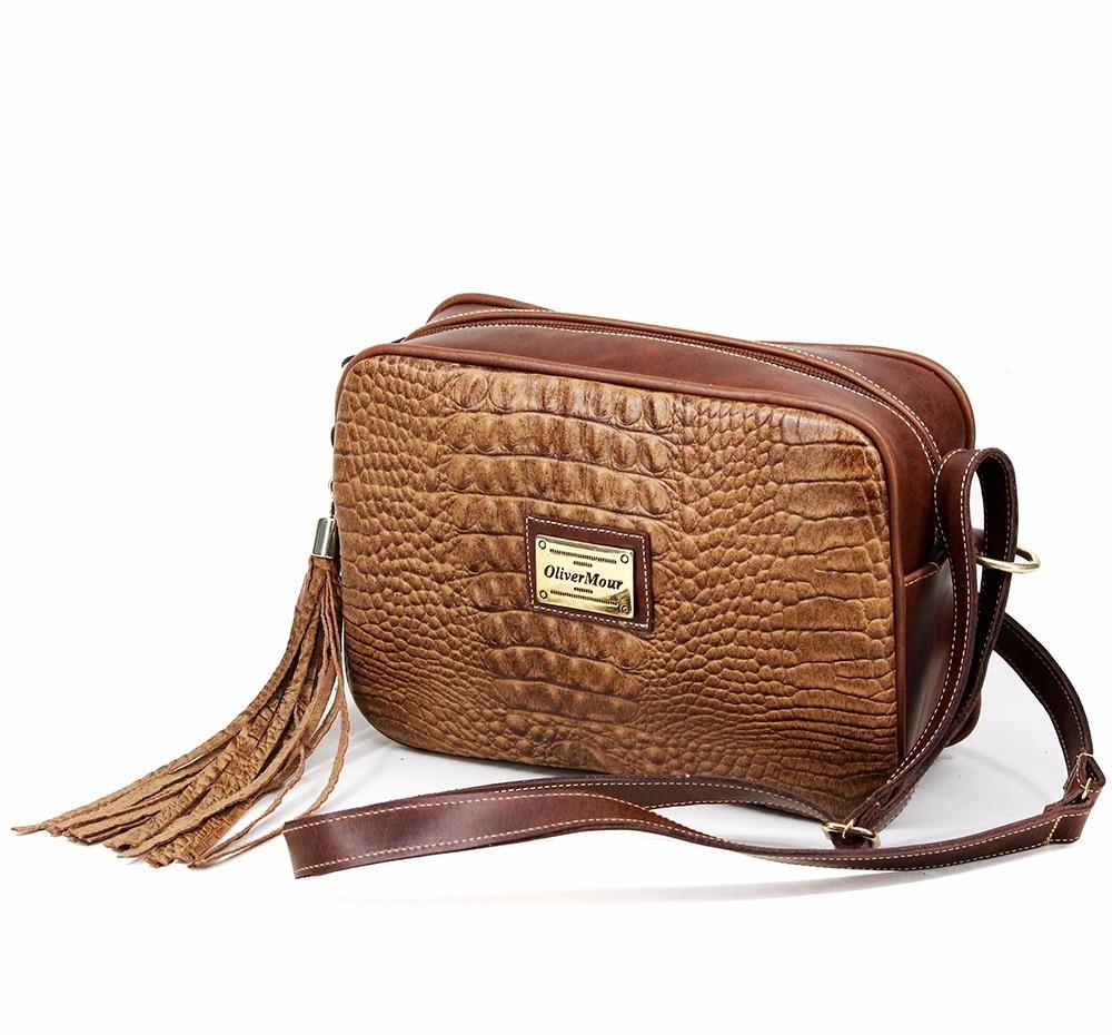 5cc6db7fd Bolsa Pequena Transversal Feminina Em Couro Genuíno - R$ 199,49 em ...