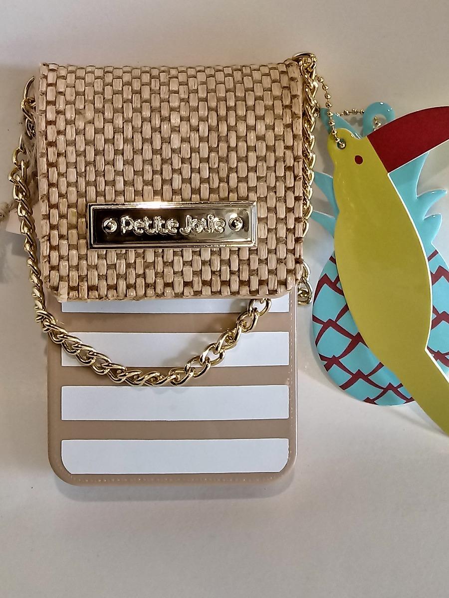Bolsa Petite Jolie Case Bag Phone Palha Nude Tifa Shop - R -5308