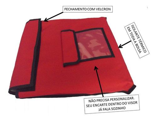 bolsa pizza quadrada original paru brasil 39 x 39 x 5 cms