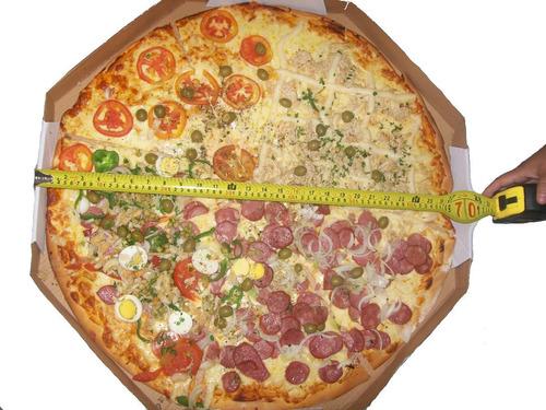 bolsa pizza quadrada original paru brasil 45 x 45 x  10 cms