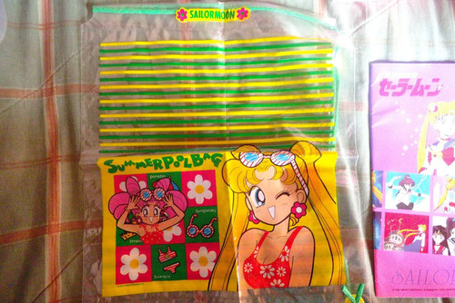 bolsa plastica maleta / mochila (con tiras) de sailor moon