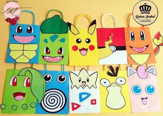 104485817 Bolsa Pokemon Combo X 25 Candy Bar Regalo Cumpleaños - $ 550,00 en ...