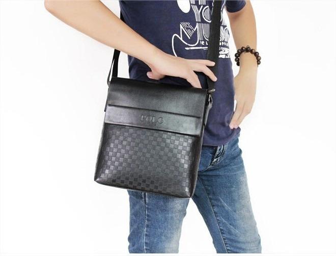 Bolsa Em Couro Masculina : Bolsa polo videng masculina em couro leg?timo pronta