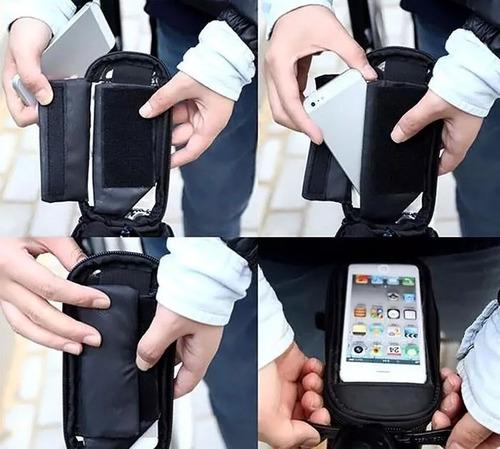 bolsa porta celular impermeable para bicicleta