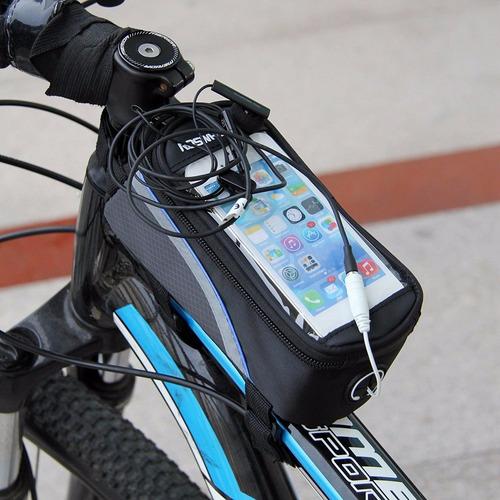 bolsa porta celular quadro bike bicicleta phone tamanho m