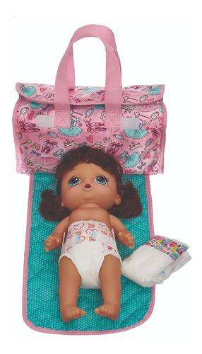 bolsa porta fralda trocador baby alive ballet 980a19 pacific