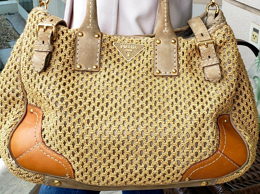 e3763dfc0 Bolsa Prada Dourada Naturale Original Lindíssima - R$ 3.950,00 em ...
