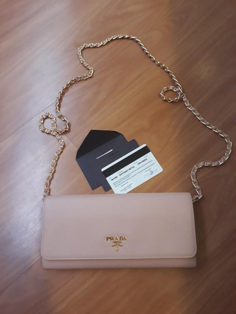 14e7d1842 Carregando zoom... bolsa prada woc original com cartão de autenticidade