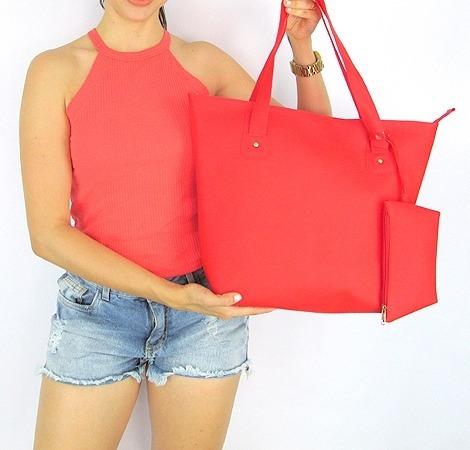 bolsa praia silicone verão impermeável + bolsinha cores 1