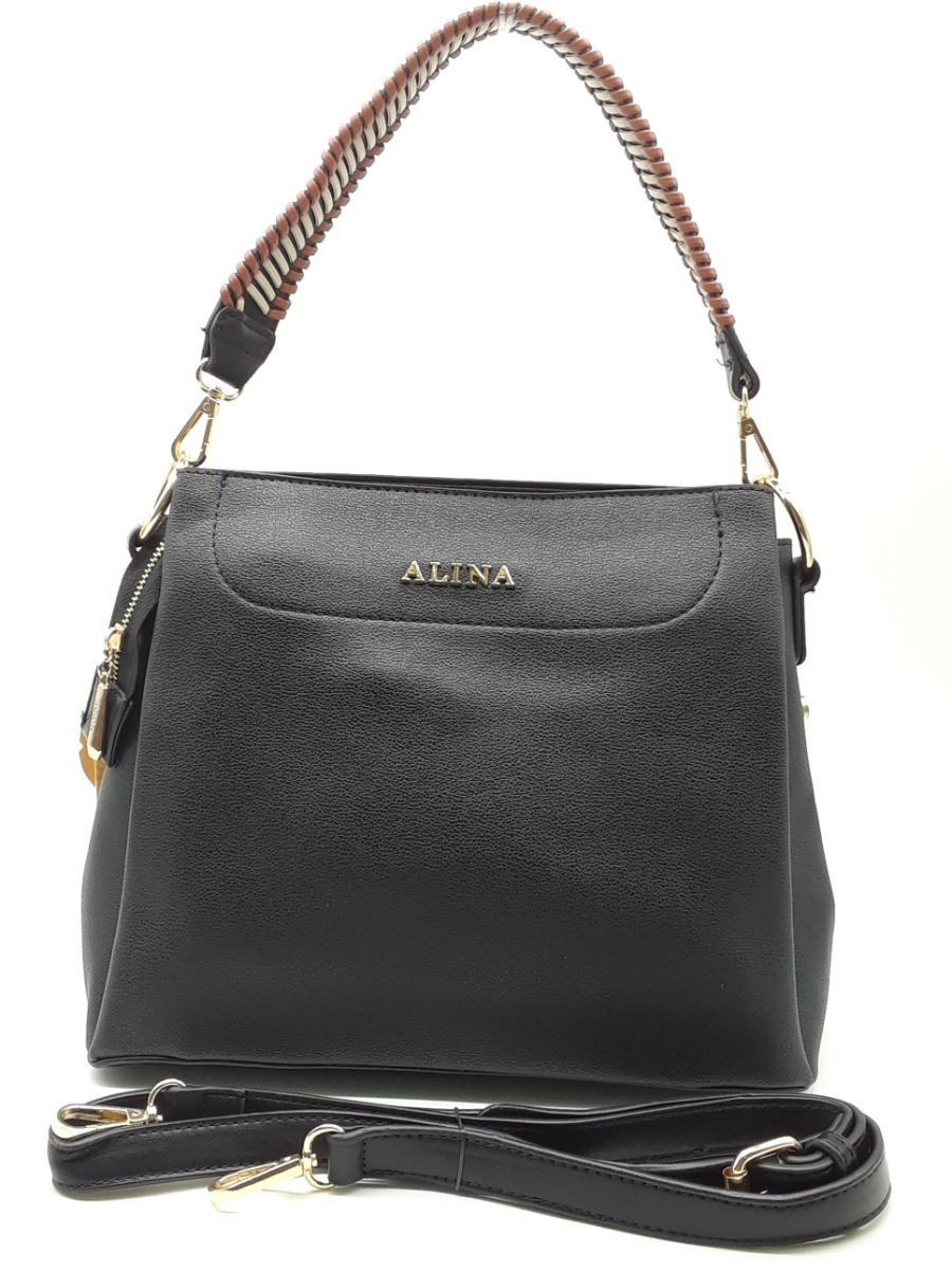3e10dea09 bolsa preta mulher prática couro sintético importado top. Carregando zoom.