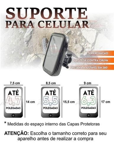 bolsa prova d'agua c/ suporte gps celular moto bike oferta
