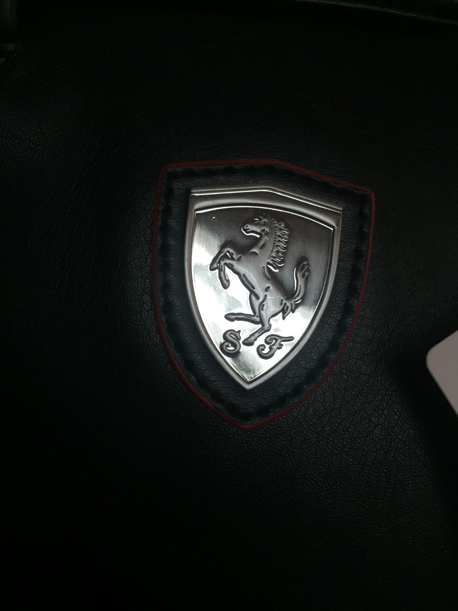 ce754c2ee bolsa puma ferrari de mano-dama 100% piel original negra 2. Cargando zoom.