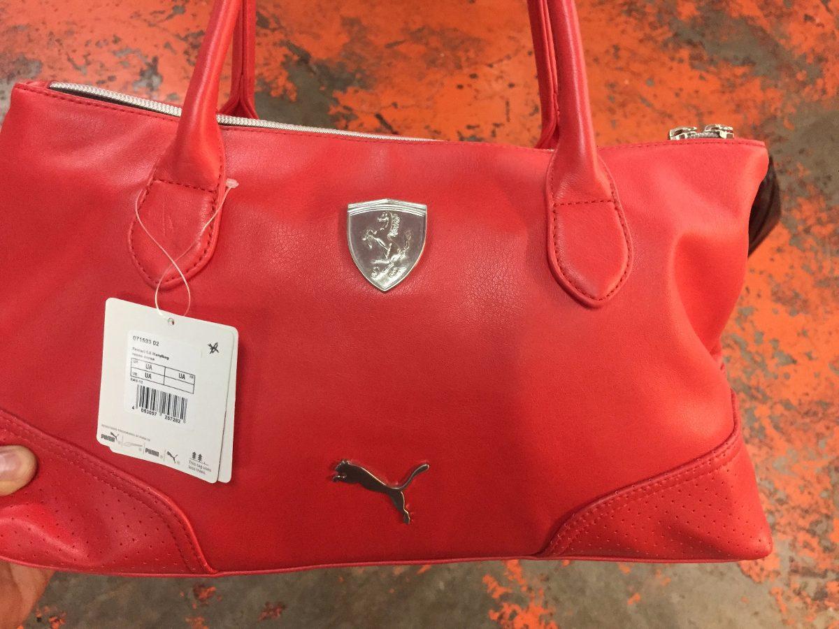 b08284f47 Bolsa Puma Ferrari De Mano-dama 100% Piel Original Roja - $ 1,299.00 ...