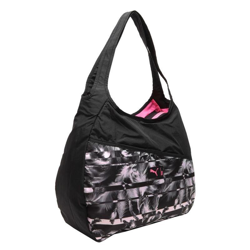ad9171ea95 bolsa puma studio hobo bag ultra preta. Carregando zoom.
