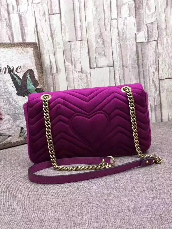 6380c2cb2 Bolsa Purple Gucci Marmont - R$ 700,00 em Mercado Livre