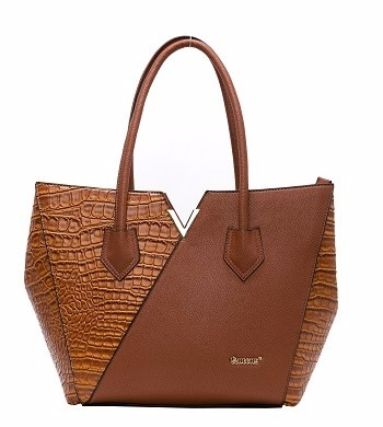 84a915a3b2 Bolsa Queens Paris Caramelo Com Recortes Texturas - Santino - R  159 ...