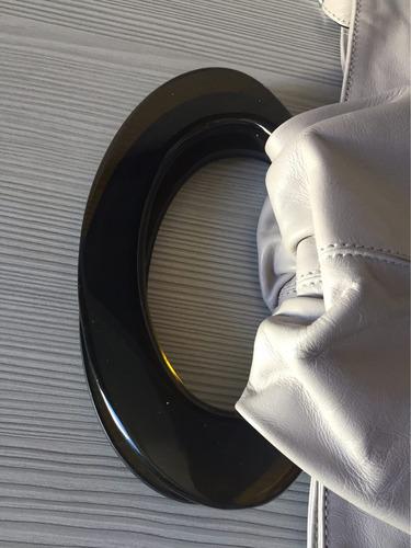 bolsa rafithy transversal tiracolo clutcher couro nude
