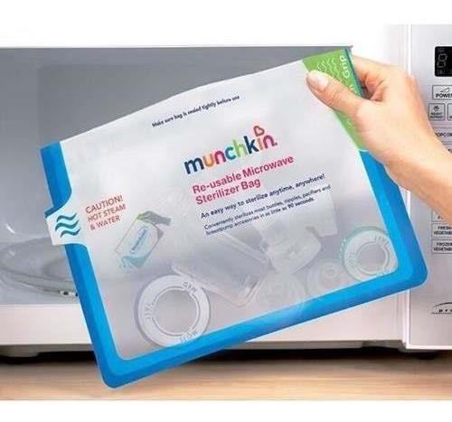 bolsa recolectora esterilizadora para microondas munchkin