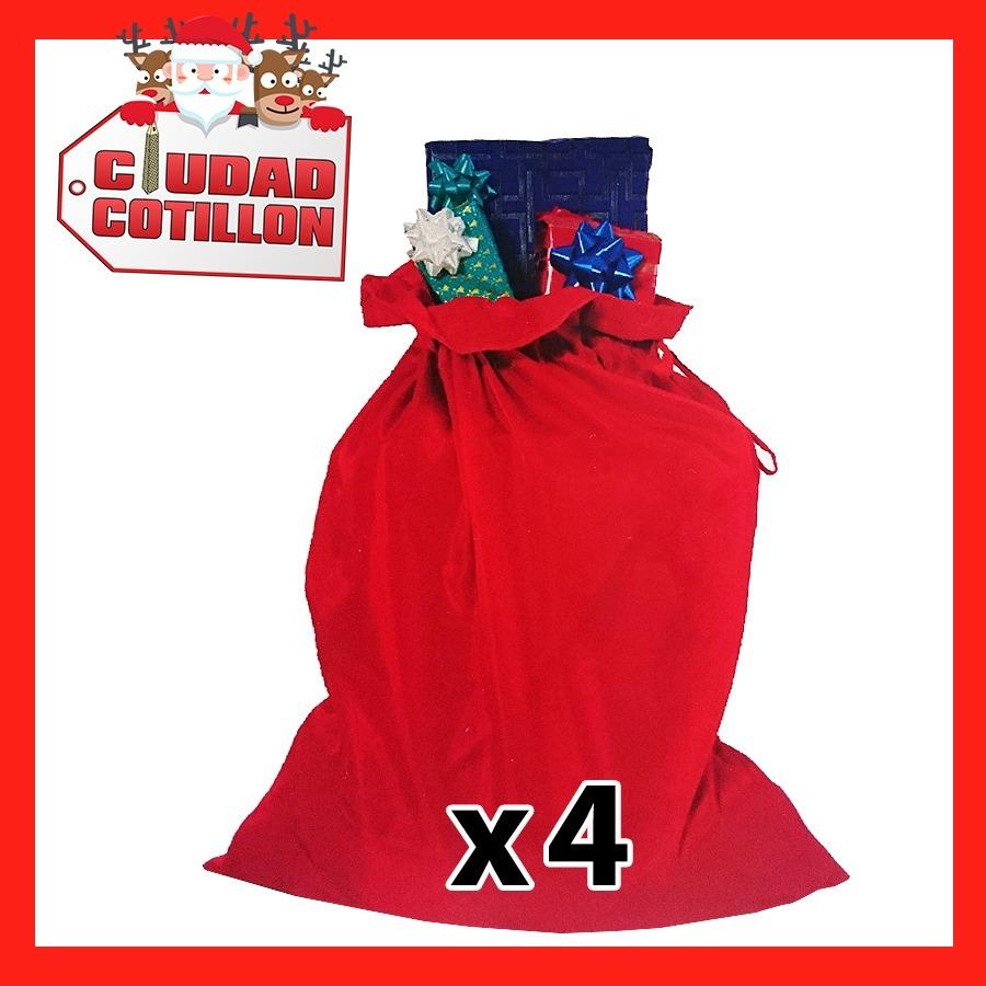 4dc09edbb45a2 bolsa regalos papa noel x 4 - navidad - ciudad cotillón. Cargando zoom.