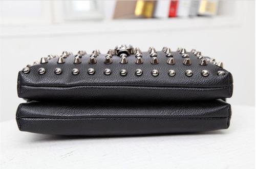 bolsa rock gótica - sidebag alça rebite caveira - ropapreta